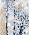 Grands arbres Acrylique / toile 24 po x 6 po