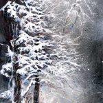 Premières neiges Acrylique / toile 36 po x 18 po