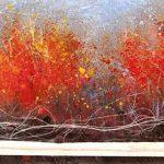 Humeur d'automne Acrylique / toile 6 po x 24 po