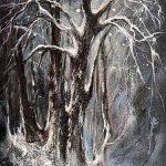 Collection arbres hiver Acrylique / toile 24 po x 12 po