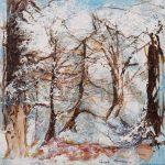 Neiges éternelles Acrylique / toile 8 po x 8 po