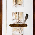 Origines I 18 po x 12 po Plexiglass/bois/toile