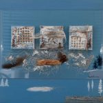 Origines Autochtones 22 po x 28 po Plexiglass/bois/toile