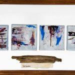 Origines II 12 po x 18 po Plexiglass/bois/toile
