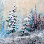 Collection hiver Acrylique / toile 10 po x 10 po