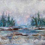 Paysage du Québec Acrylique / toile 7 po x 12 po