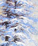 Grands arbres Acrylique / toile 36 po x 6 po