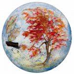 Les saisons Acrylique / toile Ronde 16 po