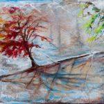 Symphonie des saisons Acrylique / toile 12 po x 24 po