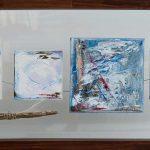 Origines III 12 po x 24 po Plexiglass/bois/toile