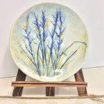 Assiette décorative, utilitaire ronde – fleurs des champs.